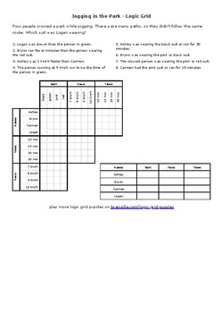 Logic Puzzles for the ESL Classroom