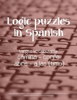 Puzzles: Logic puzzles in Spanish, camina corre abre