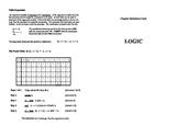 Logic Reference Card