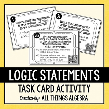 Logic Statements Task Cards