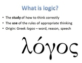 Logic: Types of Communication, Fact/Opinion, Premise/Conclusion, Fallacies, etc.