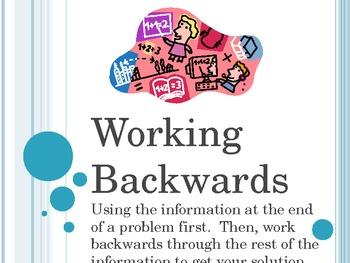 work backwards problem solving strategy