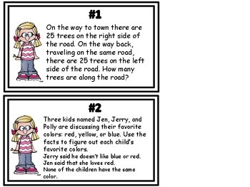 Enrichment Task Cards: Logical Thinking