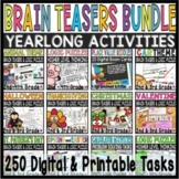 Brain Teasers  and Logic Math BUNDLE