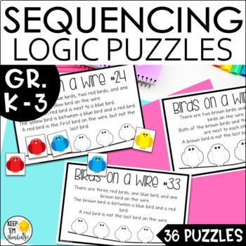 Math Logic and Reasoning Puzzles Gr. 1-3