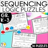 Math Logic Puzzles | Enrichment | Sequencing Task Cards |