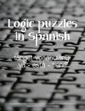 Puzzles: Logic puzzles in Spanish, va está tiene