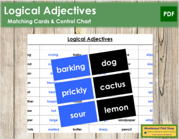 Logical Adjective Cards