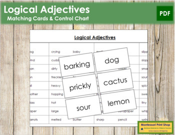 Logical Adjective Cards (B/B)