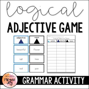 Montessori Logical Adjective Grammar Game