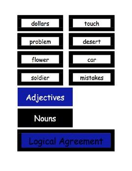 Logical Adjective-Noun Agreement