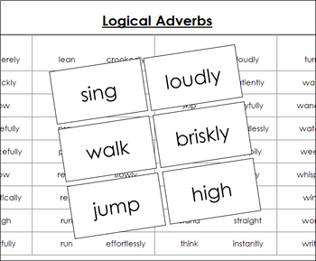Logical Adverb Cards (R/O)