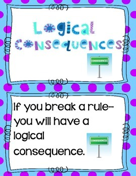 Logical Consequences  Anchor Chart Cards