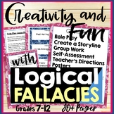 Creativity & Fun with Logical Fallacies - Lessons, Activities, Games Grades 8-12