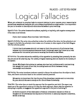 Logical Fallacies Handout