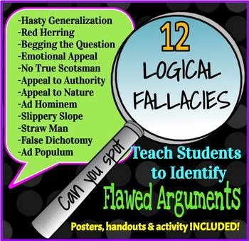 logical fallacies identifying 12 flawed arguments by speech debate ela etc. Black Bedroom Furniture Sets. Home Design Ideas