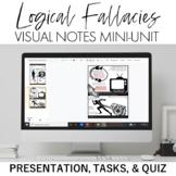 Logical Fallacies Mini-Unit: Visual Notes, Quiz, and Teach