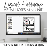 Logical Fallacies Mini-Unit: Visual Notes, Quiz, and Teach