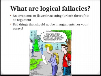 Logical Fallacies PowerPoint Presentation - CCSS Aligned