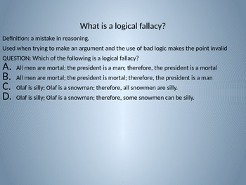 Logical Fallacies for 8th Graders (Texas)