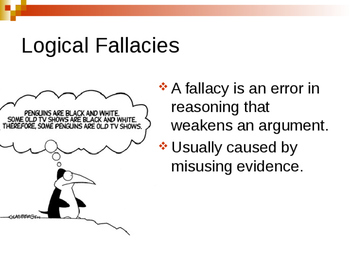 Logical Fallacies overview - 10 common fallacies with examples