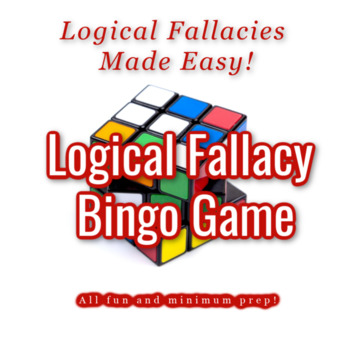Logical Fallacy Bingo Powerpoint & Game Cards (for 30 students)