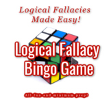 Logical Fallacies Bingo Powerpoint & Game Cards (for 30 students)