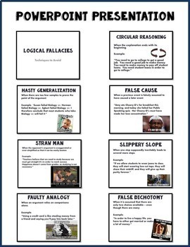 Logical Fallacy Lesson and Activity for Secondary ELA