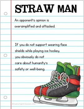 Logical Fallacies Posters with Sports Theme