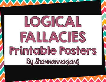 Logical Fallacy Printable Posters
