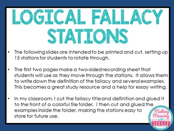 Logical Fallacy Stations