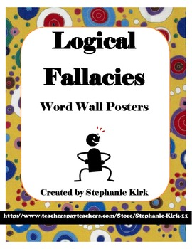 Logical Fallacy Terms and Categories  - Word Wall Poster Printables