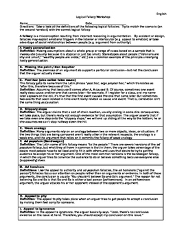 Logical Fallacy Workshop
