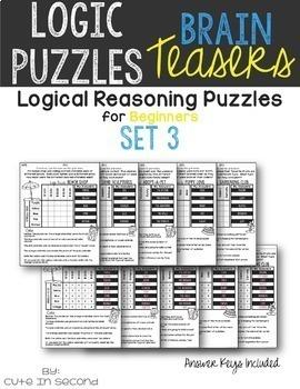 "Logical Reasoning ""Brain Teaser"" Puzzles  * GROWING BUNDLE *"