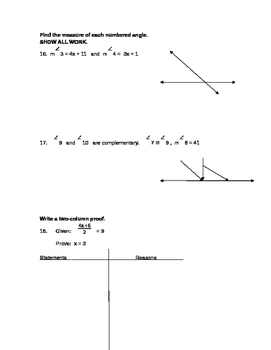 Logical Statements Unit Test