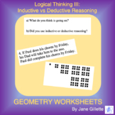 Logical Thinking III: Inductive vs Deductive Reasoning