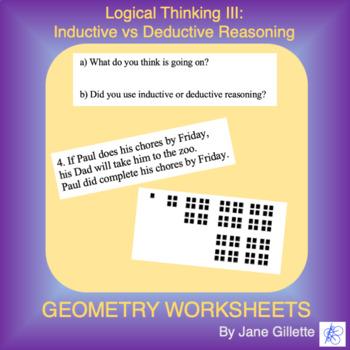 logical thinking iii inductive vs deductive reasoning by jane gillette. Black Bedroom Furniture Sets. Home Design Ideas