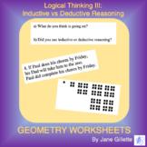 Logical Thinking III: Inductive vs Deductive Reasoning
