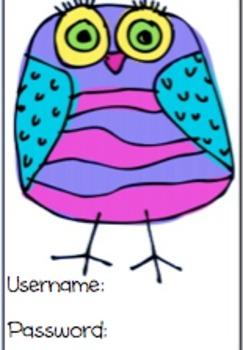 Login Cards - Owl Themed - EDITABLE