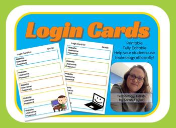 Login Cards by Technology Tidbits