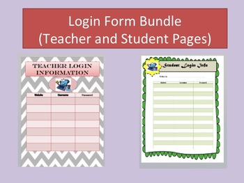 Login Form Bundle (Student and Teacher Forms!)