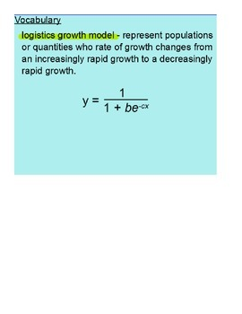 Logistics Growth Function SmartBoard Lesson