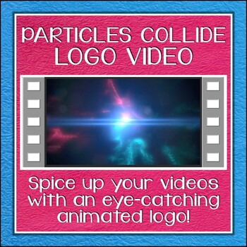 Logo Button 14 Particles Collide Video Intro