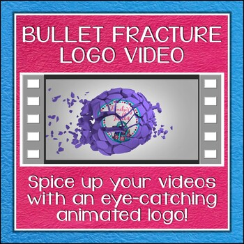 Logo Button 4 Bullet Fracture Video Intro