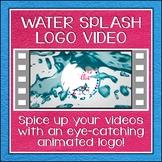 Logo Button 9 Water Splash Video Intro