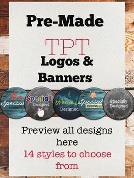 Logo Template Pre-Made TPT Logos -Customizable