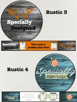 Premade Logos & Banners for your TPT Store-Customized for your store