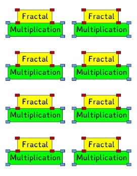 Logo for fractal multiplication cards
