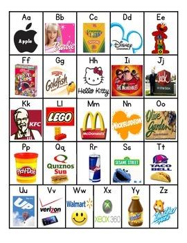 Logos and Brands Alphabet Chart