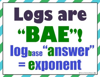 Logs are BAE Poster for Logarithms